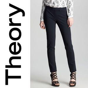THEORY wool blend Leska pants. Mid rise. Straight leg